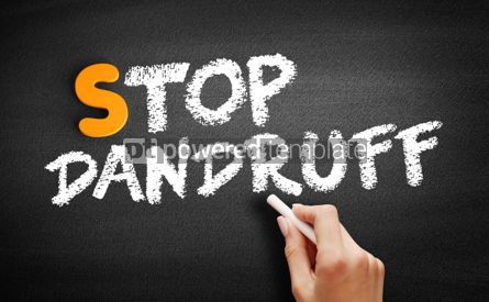 Business: Stop Dandruff text on blackboard #01069