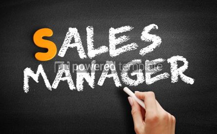 Business: Sales Manager text on blackboard #01071