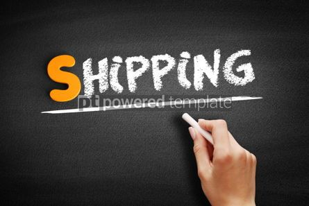 Business: Shipping text on blackboard #01072