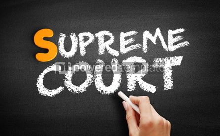 Business: Supreme Court text on blackboard #01073