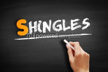Business: Shingles text on blackboard #01074