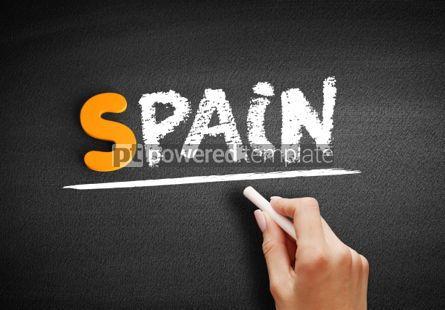 Business: Spain text on blackboard #01075