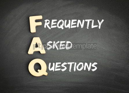 Business: Wooden alphabets building the word FAQ #01081