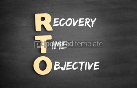Business: Wooden alphabets building the word RTO #01103