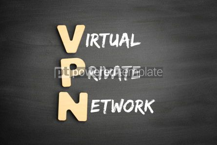 Business: Wooden alphabets building the word VPN #01106