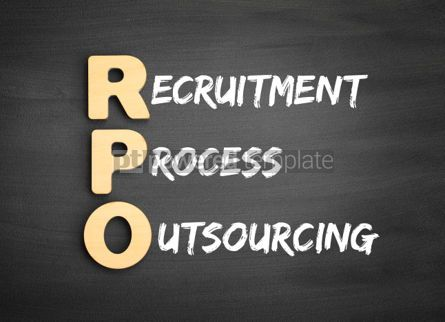 Business: Wooden alphabets building the word RPO #01113