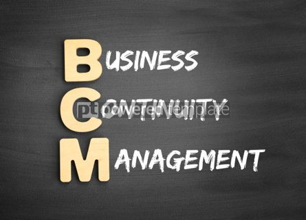 Business: Wooden alphabets building the word BCM #01115