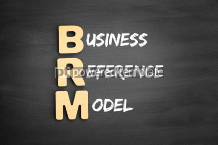 Business: Wooden alphabets building the word BRM #01116