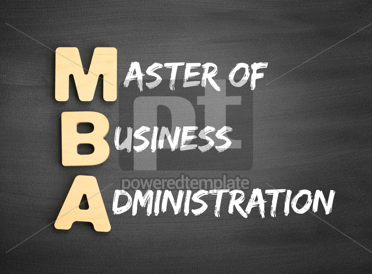 Wooden alphabets building the word MBA, 01117, Business — PoweredTemplate.com