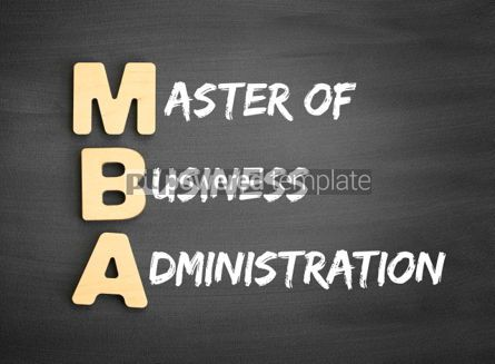 Business: Wooden alphabets building the word MBA #01117