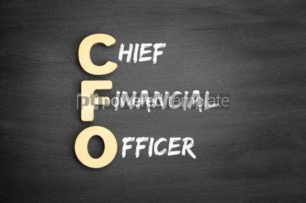 Business: Wooden alphabets building the word CFO #01118