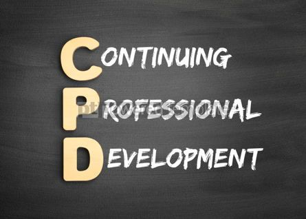 Business: Wooden alphabets building the word CPD #01121