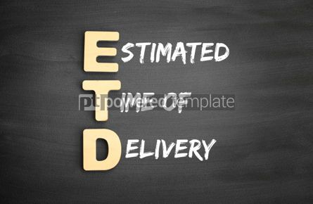 Business: Wooden alphabets building the word ETD #01122