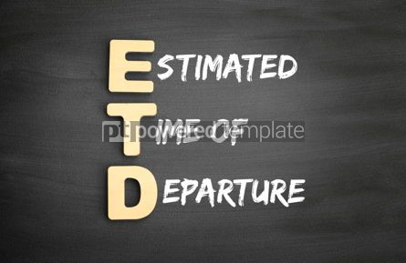 Business: Wooden alphabets building the word ETD #01123