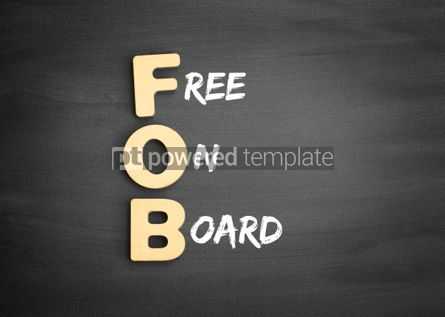 Business: Wooden alphabets building the word FOB #01124