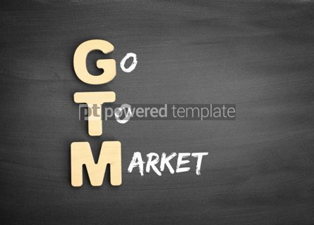 Business: Wooden alphabets building the word GTM #01131