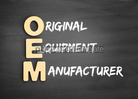 Business: Wooden alphabets building the word OEM #01132