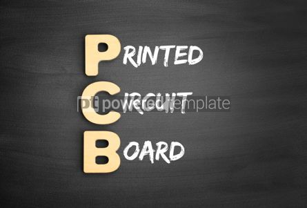 Business: Wooden alphabets building the word PCB #01133