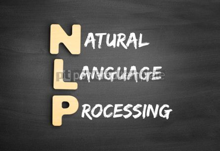 Business: Wooden alphabets building the word NLP #01138