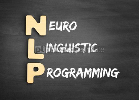 Business: Wooden alphabets building the word NLP #01139