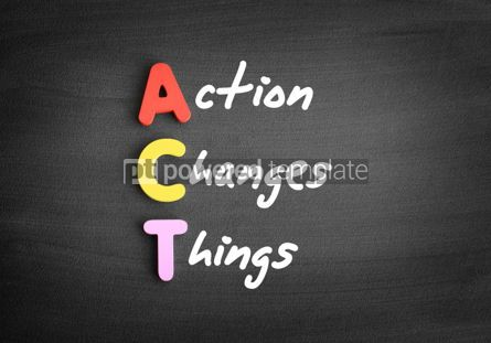 Business: Color wooden alphabets building the word ACT #01146