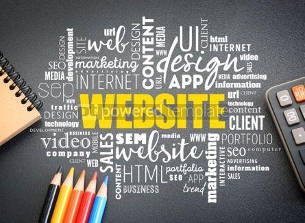 Business: WEBSITE word cloud on the desk #01148