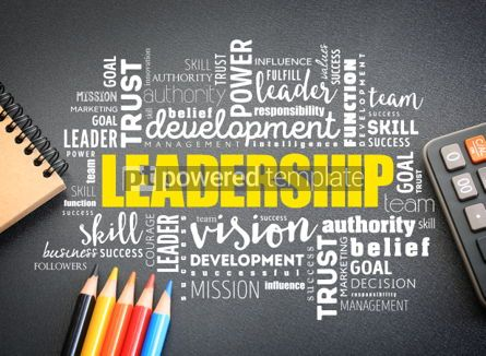 Business: LEADERSHIP word cloud on the desk #01149