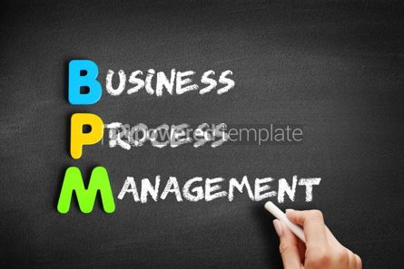 Business: Color Wooden alphabets building the word BPM #01165