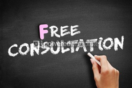 Business: Free Consultation text on blackboard #01167