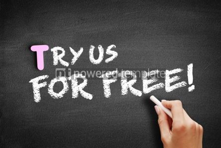 Business: Try Us For Free text on blackboard #01168