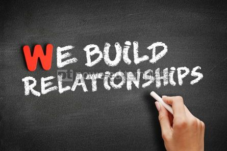 Business: We Build Relationships text on blackboard #01170