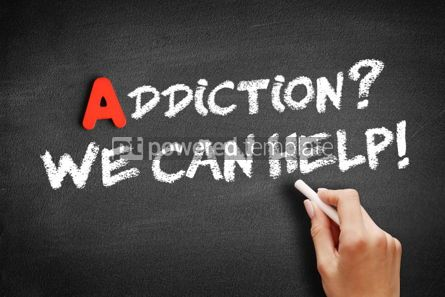 Business: Addiction We can Help text on blackboard #01172