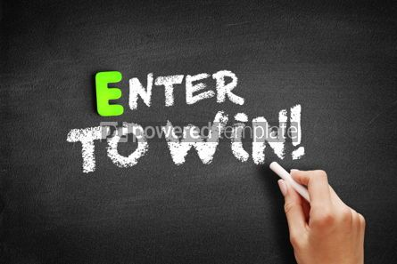 Business: Enter to win text on blackboard #01173