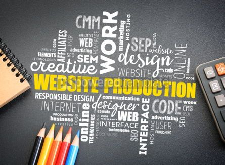 Business: Website production process word cloud #01178