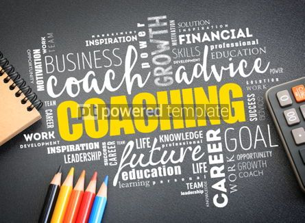 Business: COACHING word cloud on the desk #01179