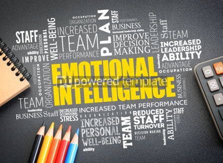 Business: Emotional intelligence word cloud on the desk #01180