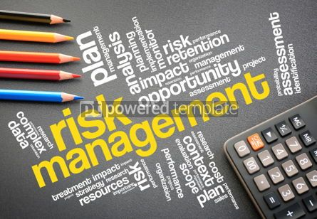 Business: Risk Management word cloud on desktop #01186