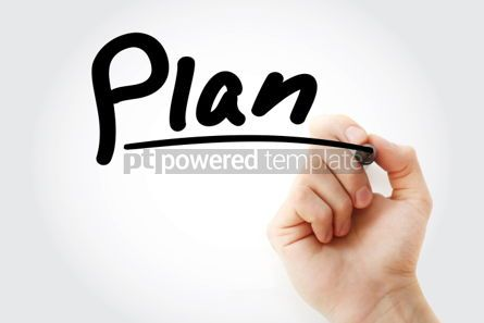 Business: Plan text with marker business concept background #01190