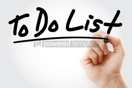 Business: To Do List text with marker business concept background #01192