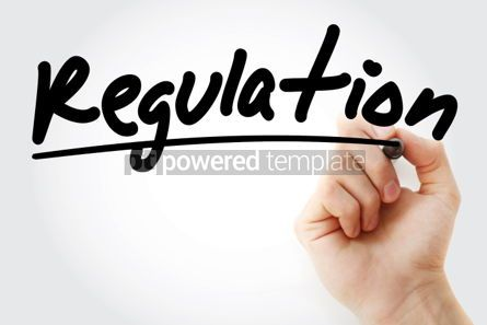 Business: Regulation text with marker business concept background #01196