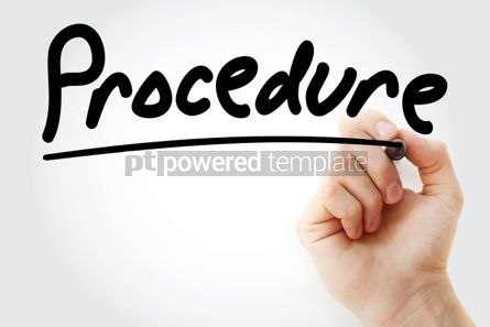 Business: Procedure text with marker business concept background #01199