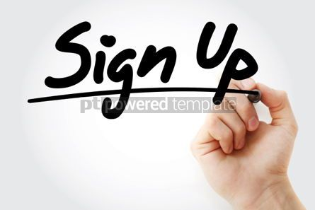 Business: Sign Up text with marker business concept background #01202