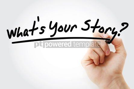 Business: What's Your Story text with marker business concept #01208