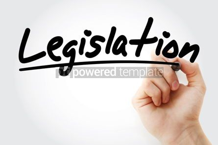 Business: Legislation text with marker business concept #01210