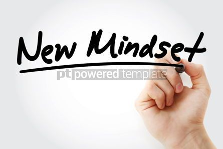 Business: New Mindset text with marker business concept #01212