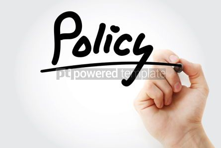 Business: Policy text with marker business concept background #01216