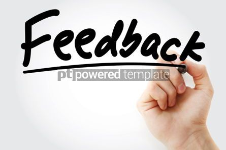 Business: Feedback text with marker business concept background #01217