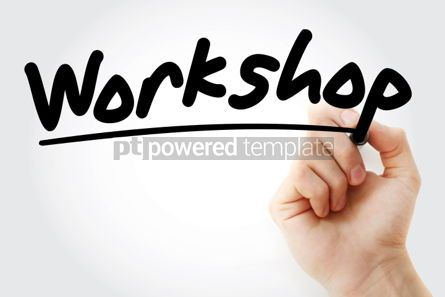 Business: Workshop text with marker business concept background #01224
