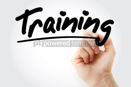 Business: Training text with marker business concept background #01226