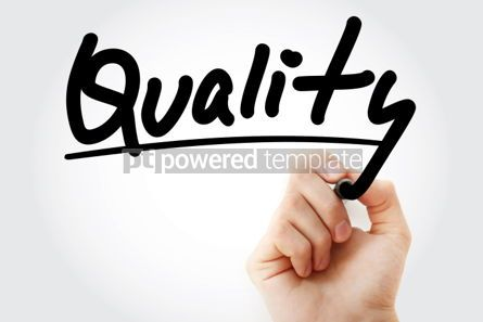 Business: Quality text with marker business concept #01228
